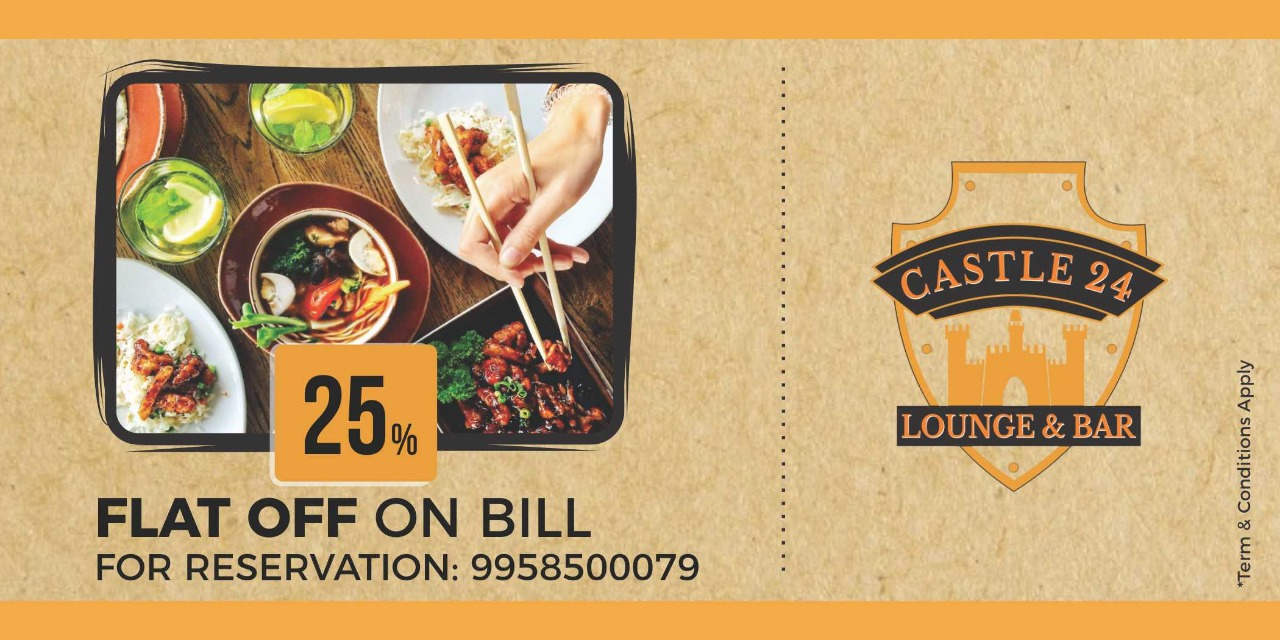 25 % Flat off on the Food bill